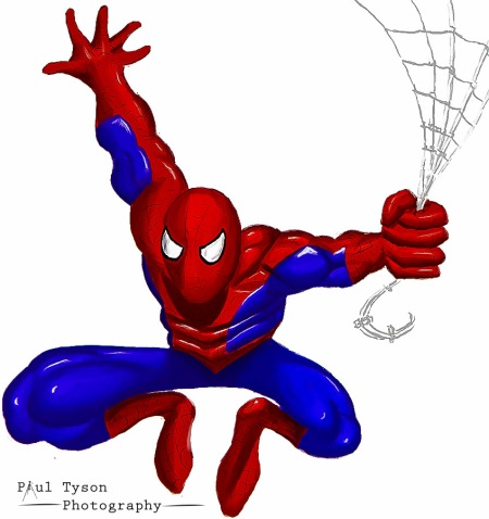 11 Spider man white back ground